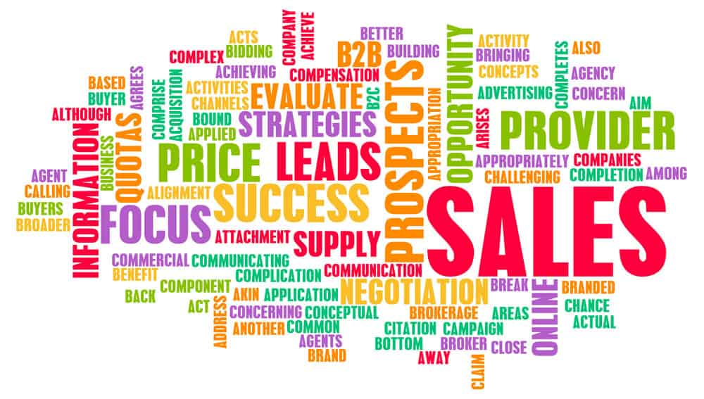 Sales-word-display